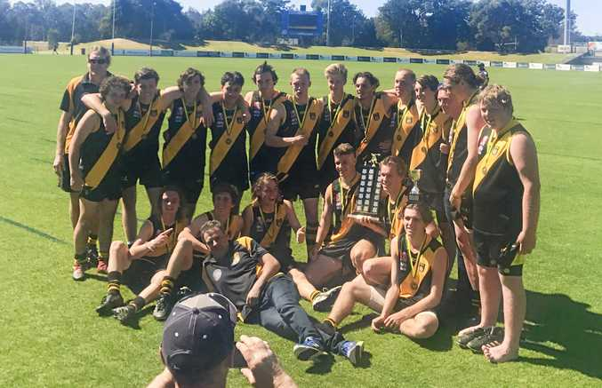 The winning Grafton Tigers u18 team.