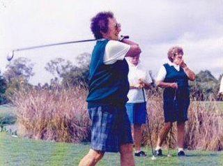 A PASSIONATE GOLFER: Lismore Workers Women's Golf Life Member Thea Warren took up the game when she retired. She said she wished she had started playing earlier.