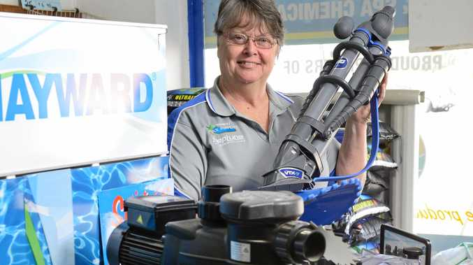 SUCCESS STORY: Kay Hutchins of Ipswich Pool Supplies in North Ipswich.