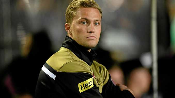 Matt Moylan watches on from the sidelines  at Lottoland on Saturday.