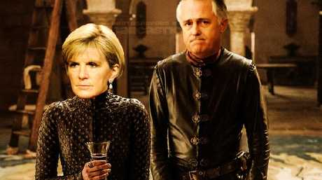 Canberra's ultimate power couple, Julie Bishop and Malcolm Turnbull. Picture: Ron Erdon/sarcastic.com.au