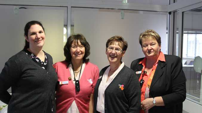 Bolton Clarke Clinical Coordinator Beth Reid, Senior Administration Officer Sally Gordon-Brander, Residential Manager Yvonne Crosby and Clinical Manager Carol Thomson.