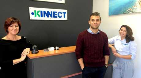 Melissa Stansbie, Zak Kharoofa and Jessica Pulis from Kinnect, awarded Australia's 17th Best Place to Work.