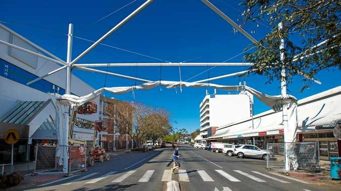 CITY OF SAILS: The new-look Moonee St shade sail.