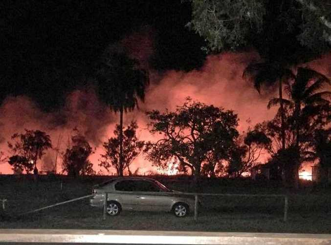 Three QFES crews battled a Scenic Hwy blaze at Kinka Beach last night. Jaimi Woodland shared these photos to the Yeppoon Families Facebook page, alerting residents to the fire.