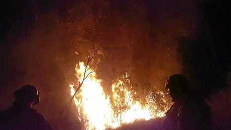Wardell fire on Back Channel Road