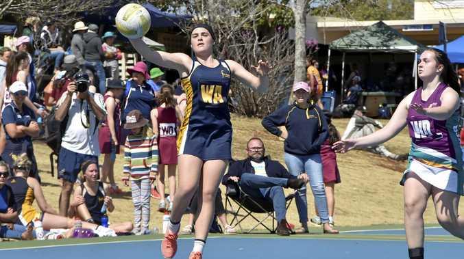 Fairholme's Ash Reimers versing Lockyer in the Vicki Wilson Cup regional finals.