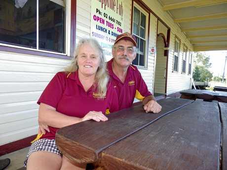 Rappville Pub publicans Jayne  Fitzpatrick and husband Peter St. Clair.