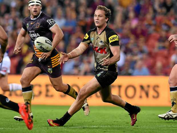Matt Moylan of the Penrith Panthers in action.
