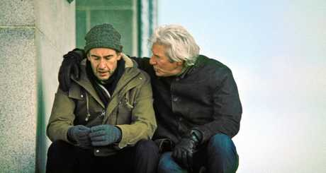 Steve Coogan and Richard Gere in a scene from the movie The Dinner.