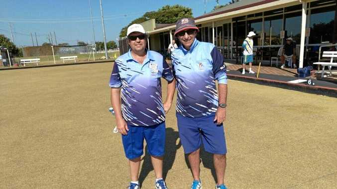 DYNAMIC DUO: Ballina bowlers Mark Querruel and Gregory Jeffery, won the Zone One State Rookies pairs final and now go forward to challenge at State level in October.