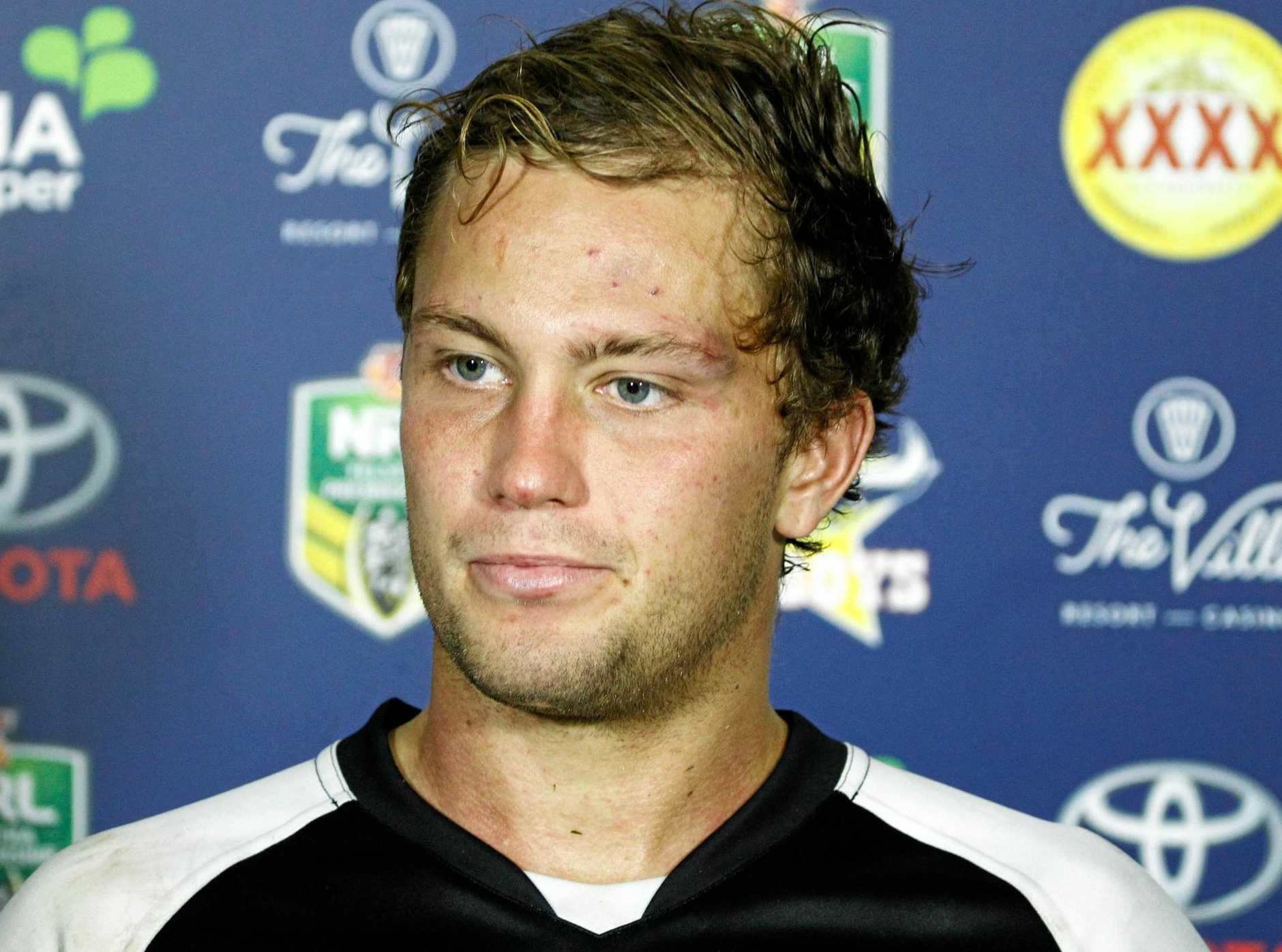 Panthers captain Matthew Moylan at a post-game media conference.