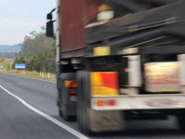 A man has been hit by a truck on the Bruce Highway (file pic).