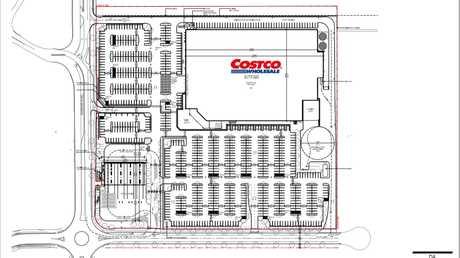 DA LODGED: Costco's DA show plans for a massive warehouse at Bundamba including hundreds of car parking spaces and a petrol station.