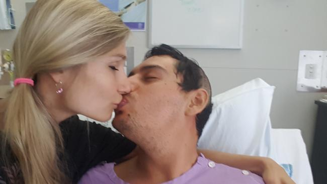 Šárka Neugebauerová and Diego Espinosa are united in his battle against brain cancer.