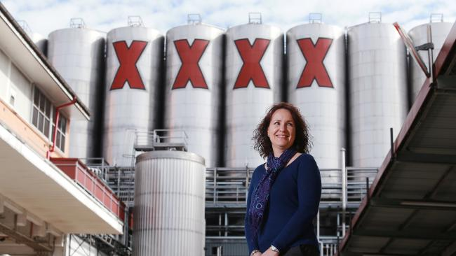 Brewery Director Irene Bell at the XXXX Brewery in Milton, Brisbane. Picture: Claudia Baxter