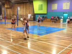 A-grade netball grand final action