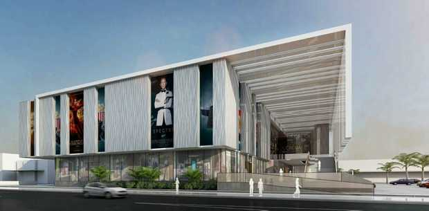 An artist's impression of the cinema and office complex to be located on Bay Dr, Urraween.