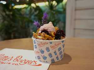 Burger bar serves up floral flavoured ice cream
