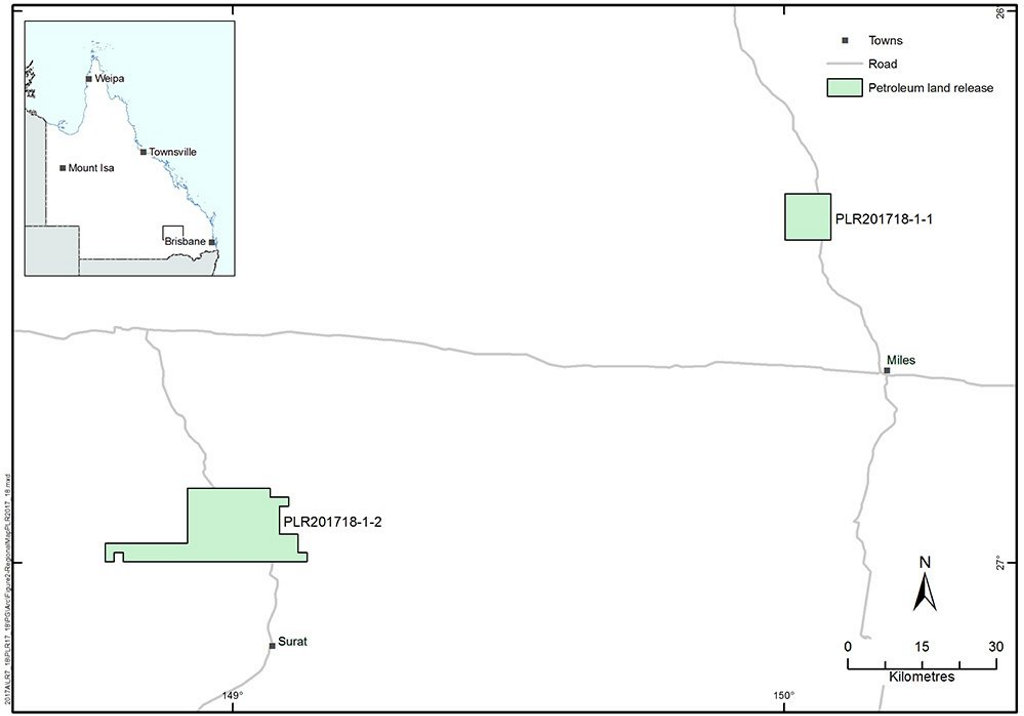 The Queensland Government has released two parcels of land for gas exploration, to exclusively supply the domestic market.