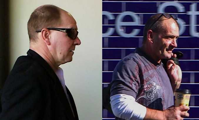 Adrian Attwater and Paul Maris enter Coffs Harbour Police Station for the last time before being found guilty in the death of Lynette Daley at the Supreme Court trial on Wednesday, 6th November, 2017.