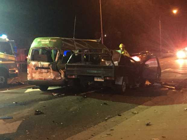 A three-car crash happened on Torquay Rd, Scarness next to the Torquay Police Station, about 7.41pm on September 6.