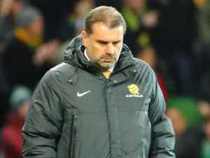 Ange Postecoglou reacts to Socceroos loss