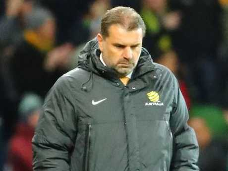 Ange Postecoglou and the Socceroos are condemned to the World Cup playoffs.
