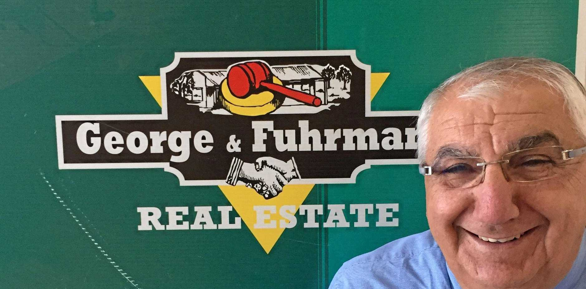 Thomas George MP, member for Lismore, visits George & Fuhrmann Real Estate Agents in Casino where his career began.