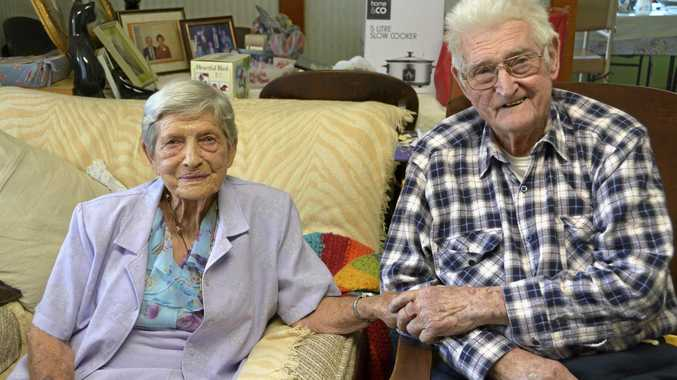 IN LOVE: John (Jack) and Dulcie Stower celebrate their 70th wedding anniversary this week.