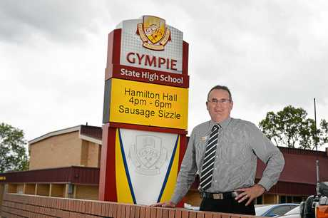 Anthony Lanskey principal at Gympie High school. Photo Renee Albrecht/Gympie Times