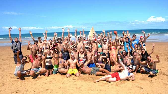 VISITOR INCREASE: Backpackers at Bargara enjoying time in the sun.