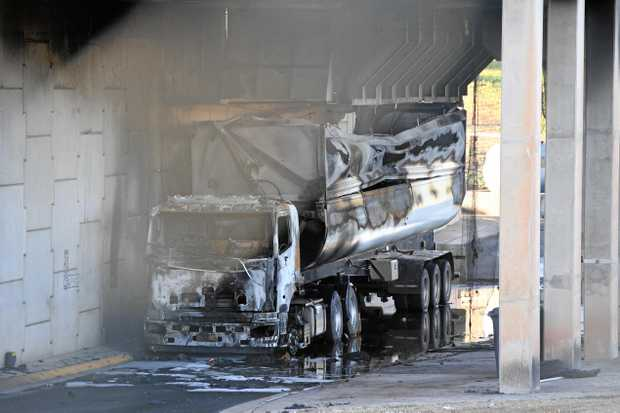 Truck fire at the Bundaberg Waste and Recycling Facility