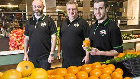 FRESH IS BEST:  Chris Butters, Rob Smith and Zane Smith from Toowoomba Fresh. Wednesday, 6th, Sep, 2017.