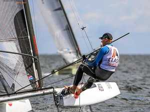 Zac's sailing all class at the world titles