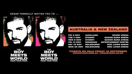 Drake Announces 'Boy Meets World' Australia & New Zealand Tour