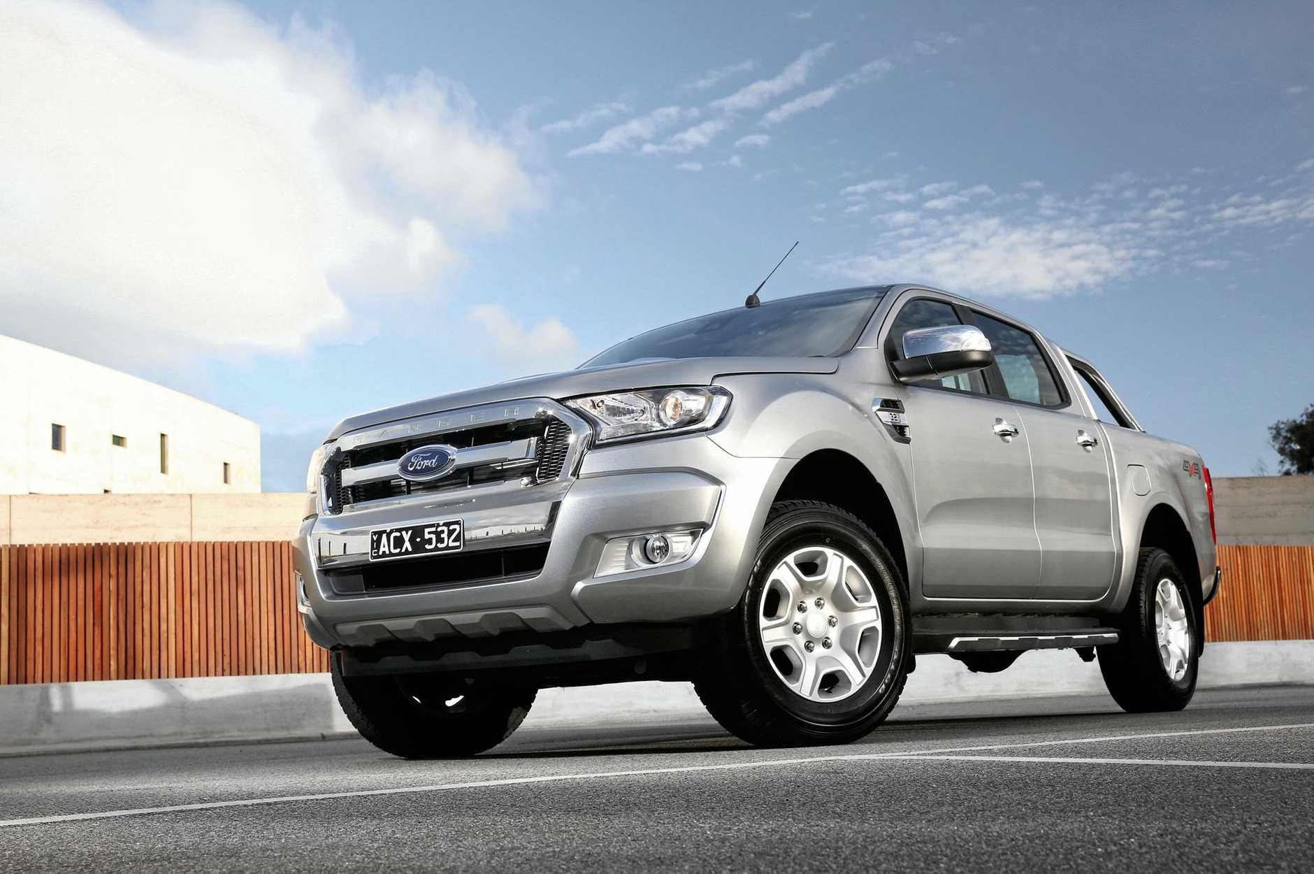 The Ford Ranger XLT.