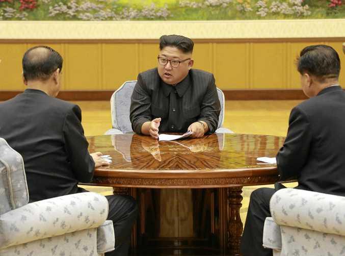 North Korean leader Kim Jong-un holds a meeting of the ruling party's presidium this week following its most powerful nuclear test so far. Korean Central News Agency/Korea News Service via AP