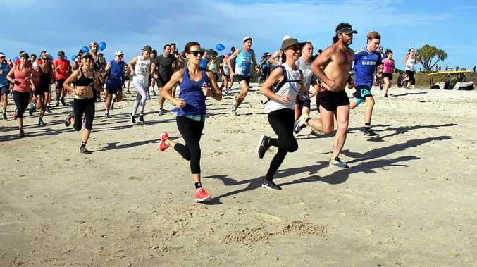 OFF AND RUNNING: The Byron2Bruns beach run attracted more than 200 competitors.