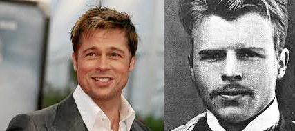 Brad Pitt and his alleged doppelganger.