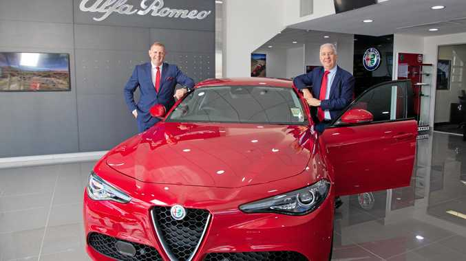 Martin Roller and Marvin Burke welcome Alfa Romeo to the Brisbane prestige fold.