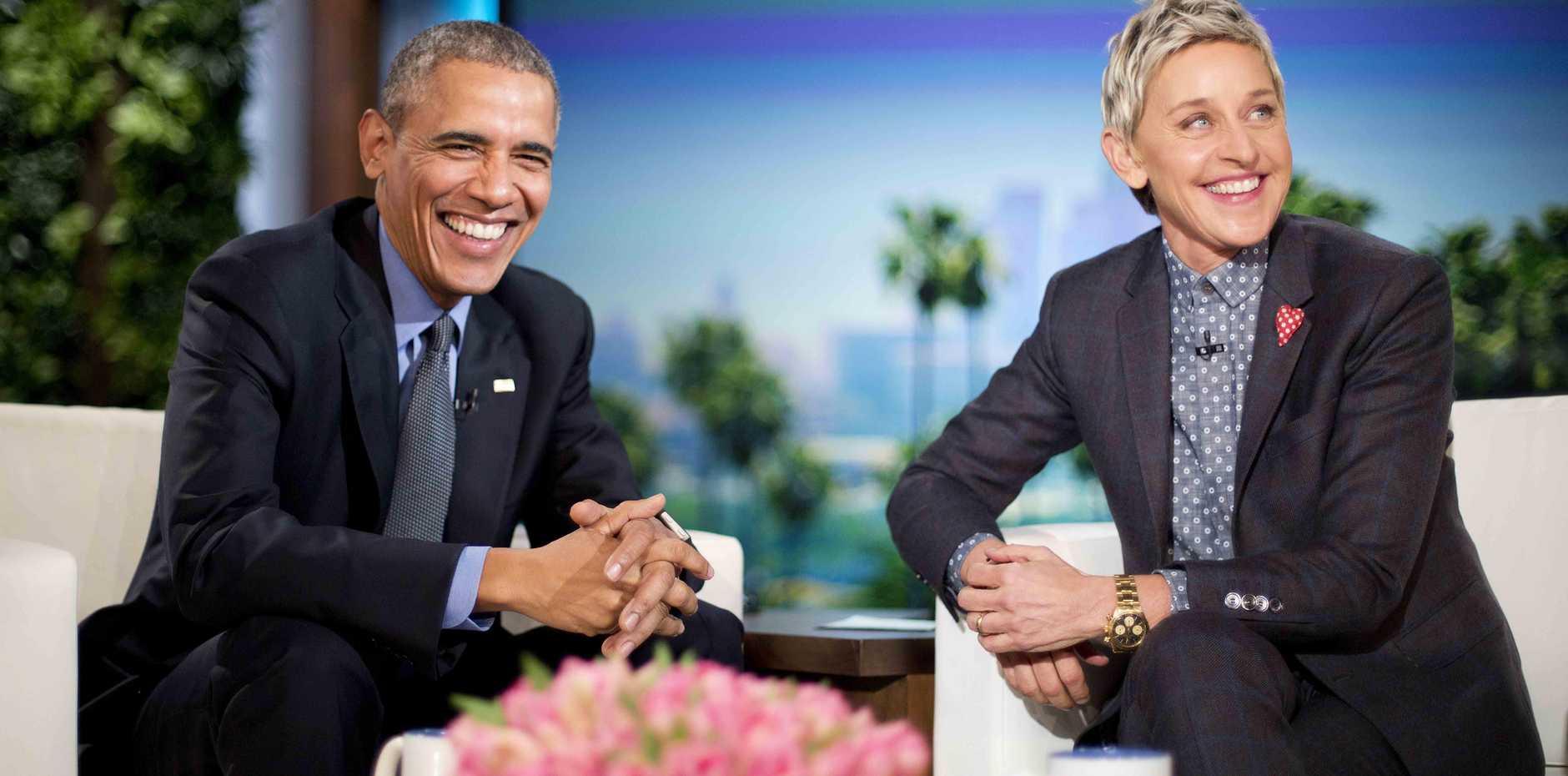 Ellen DeGeneres welcomes President Barack Obama to the show in 2016