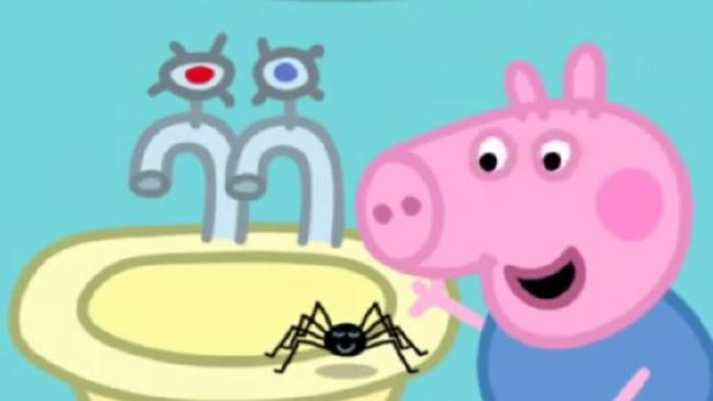A scene from the 2004 Peppa Pig episode, Mister Skinny Legs. Picture: Supplied
