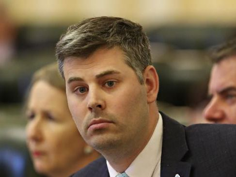 Mark Ryan at Parliament Question Time — Labor will ensure Corrections give priority to the reforms. Pic Annette Dew