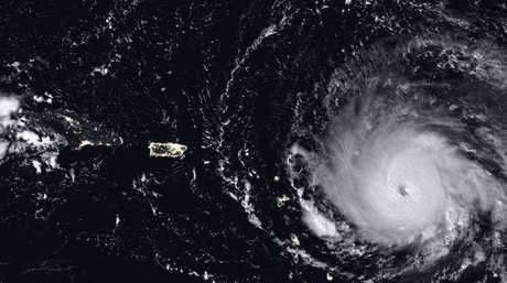 Hurricane Irma in the Caribbean. Irma roared into the Caribbean with record force early Wednesday, its path suggests it could be a possible direct hit on South Florida. (NASA via AP)