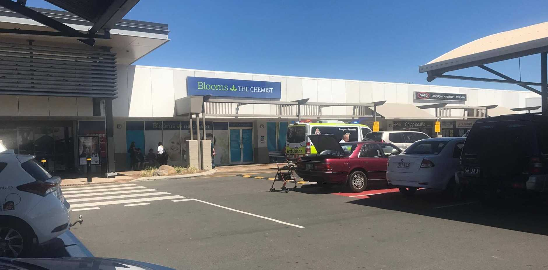 The scene at Stockland.