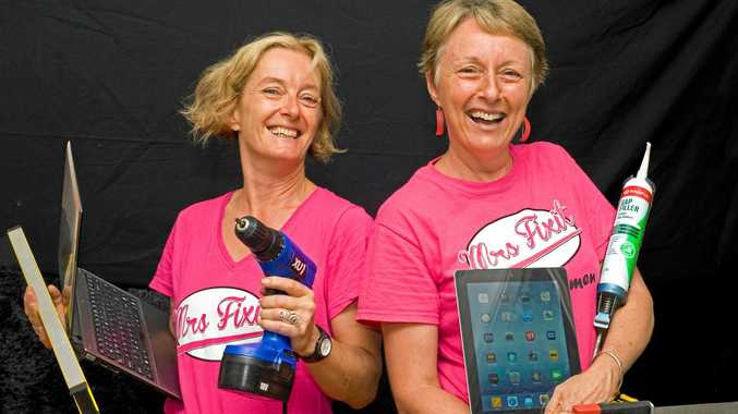 Sasha Giffard and Judy Ditter are the Mrs Fixit team