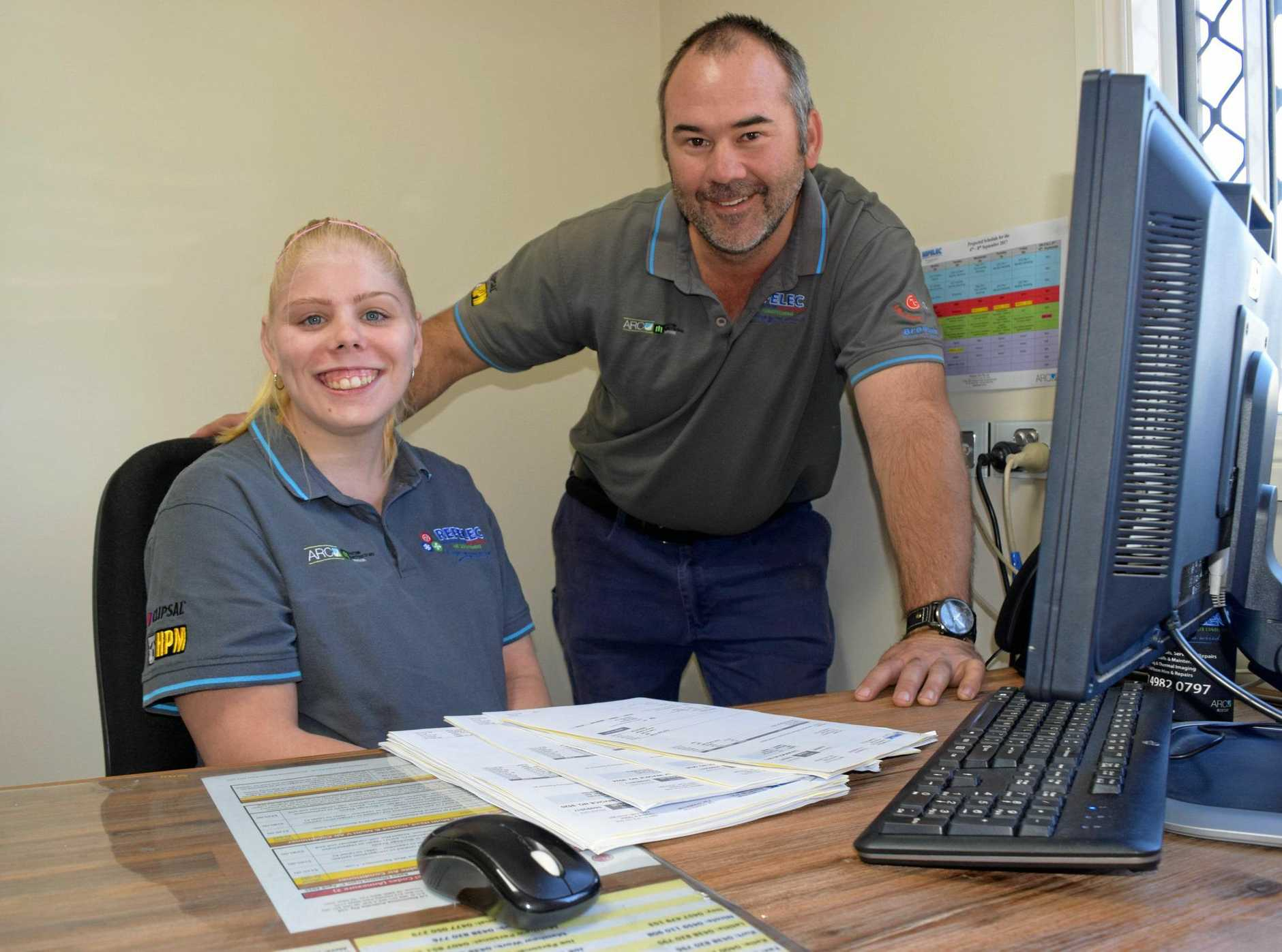 SUPPORT: Refelec's Kurt Renwick and Courtney Earl in the office.