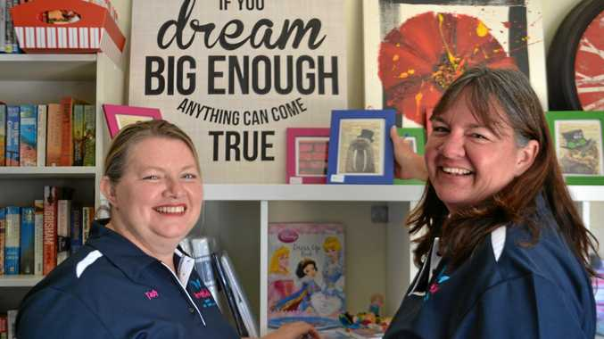 DREAMING BIG: Drought Angels directors Tash Johnston and Jenny Gailey at their new charity store, Hidden Treasures.