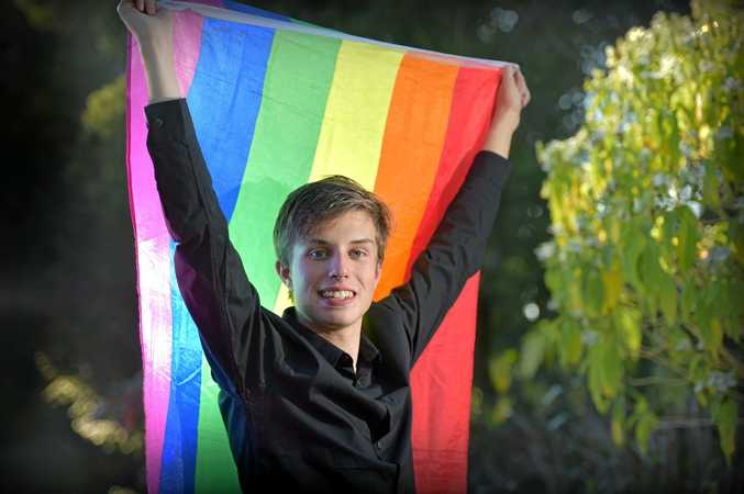READY FOR FUN: Sam Bouzanquet is organising Queensland's first LGBTIQ Formal.